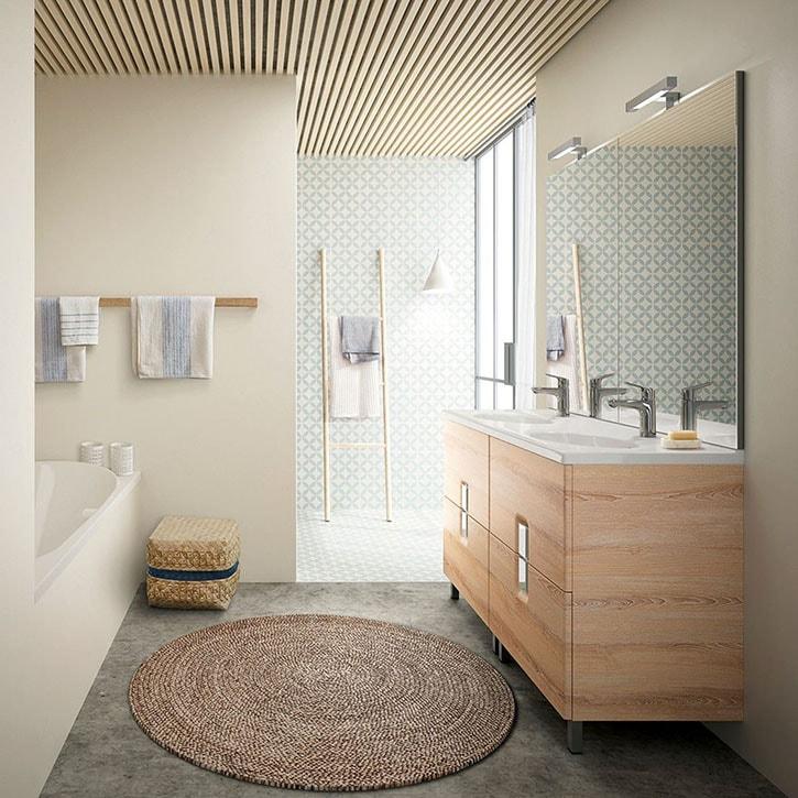 salle de bain zen naturelle moderne