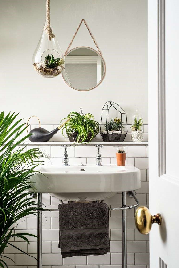 petite salle de bain zen nature