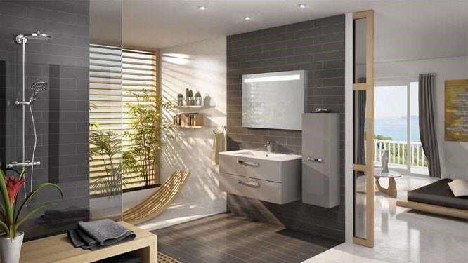 salle de bain spacieuse cosy