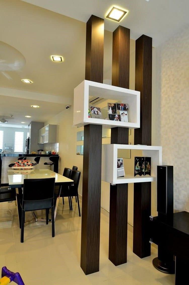 Séparation De Cuisine Bar séparation cuisine salon : 40 idées pour cloisonner et