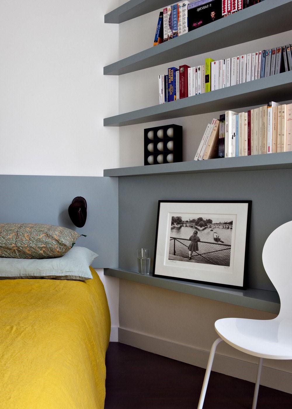 tete de lit peinture grise