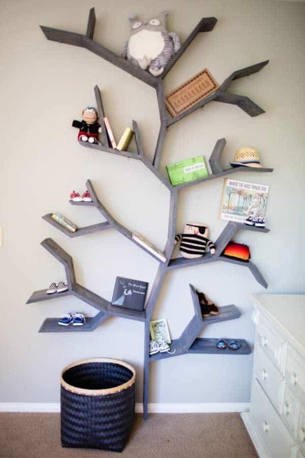 Bibliothèque arbre pour enfant