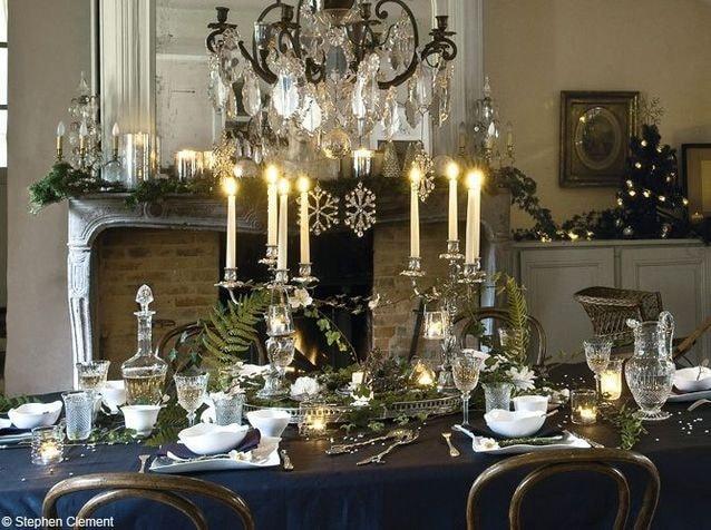Bleu nuit table de fête