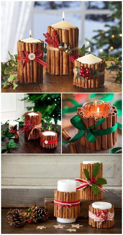 Bougies bâtons de cannelle