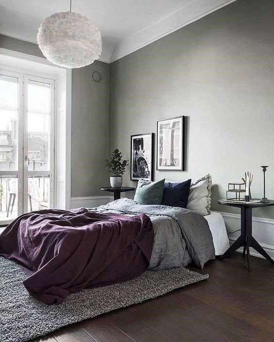 Chambre élégante Grise Prune © Erik Olsson