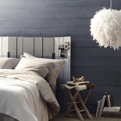 Chambre effet bois gris