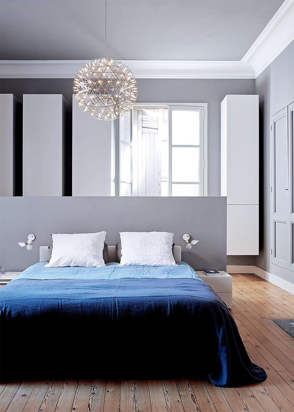 Chambre gris nuancé