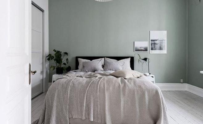 Chambre verte inspirations id es et conseils - Chambre vert deau et beige ...
