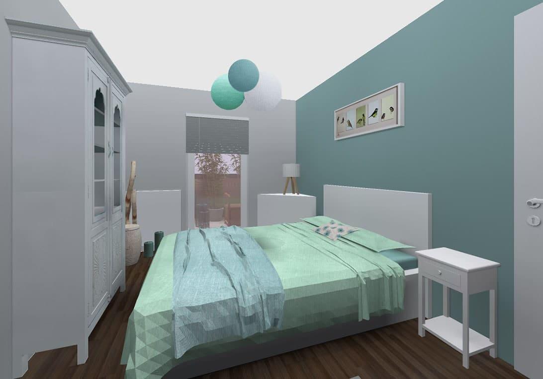 Incroyable Chambre Vert Du0027eau Et Bleu