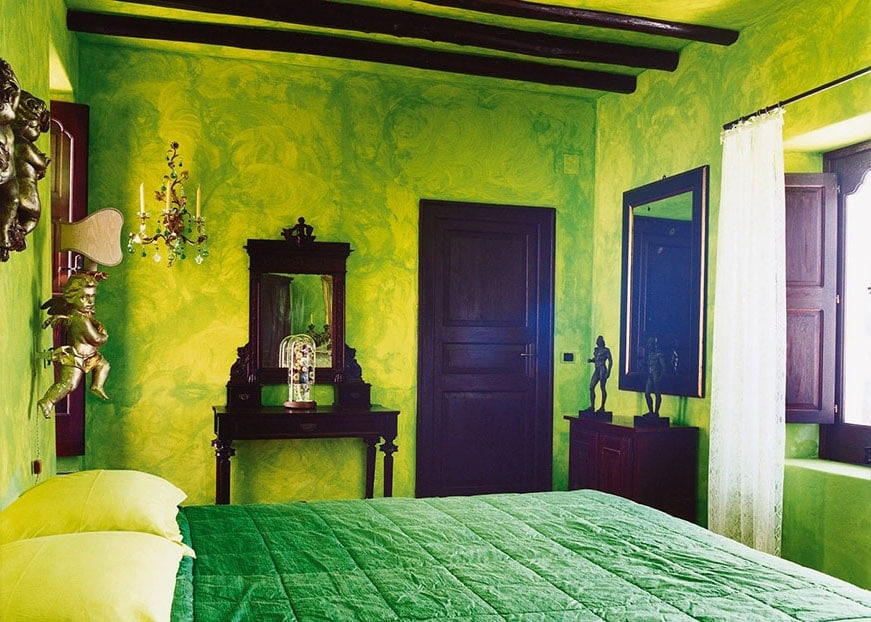 Chambre Vert Et Jaune