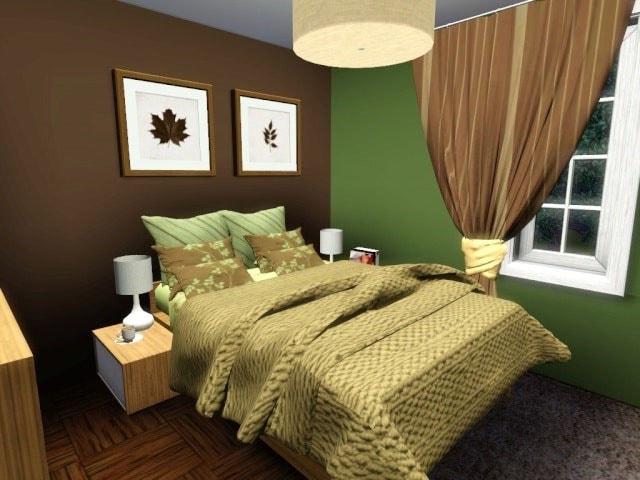 Elegant Chambre Vert Foncé