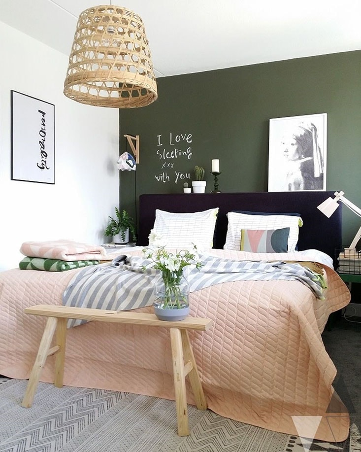 Agreable Chambre Vert Kaki