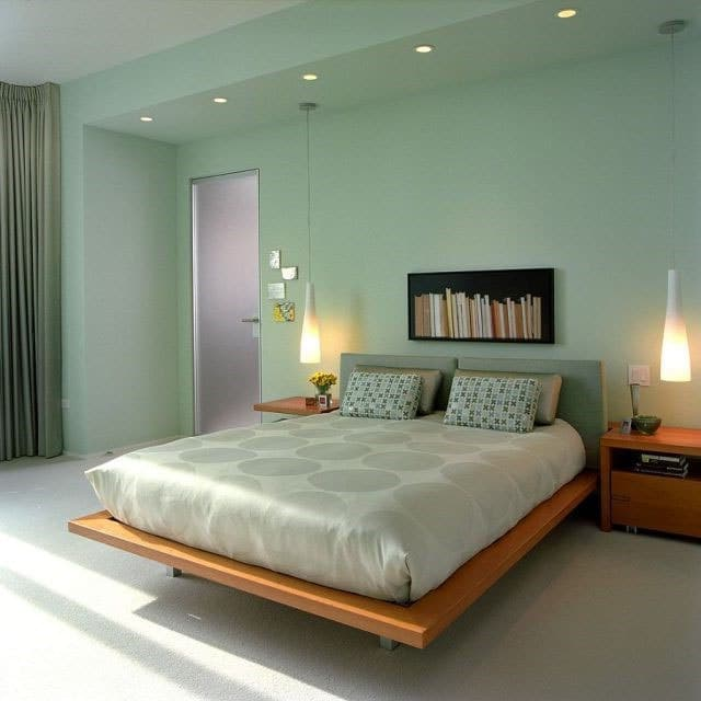 Chambre verte chic