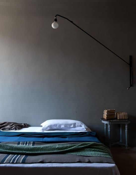 Chambre vintage grise