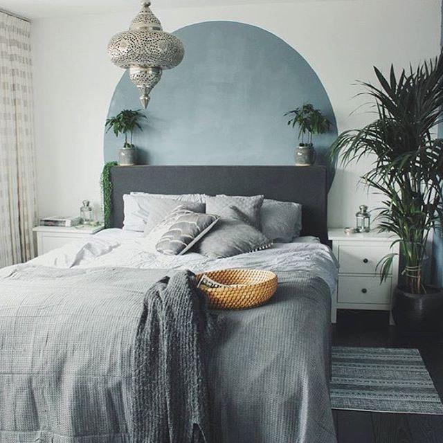 Chambre zen et apaisante grise