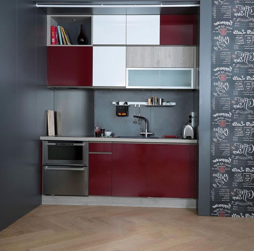 petite cuisine ouverte 38 id es d 39 am nagement modernes et pratiques. Black Bedroom Furniture Sets. Home Design Ideas