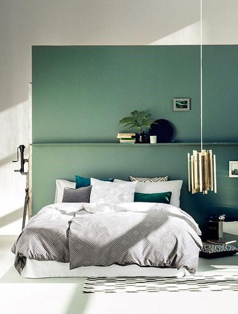 Déco chambre verte