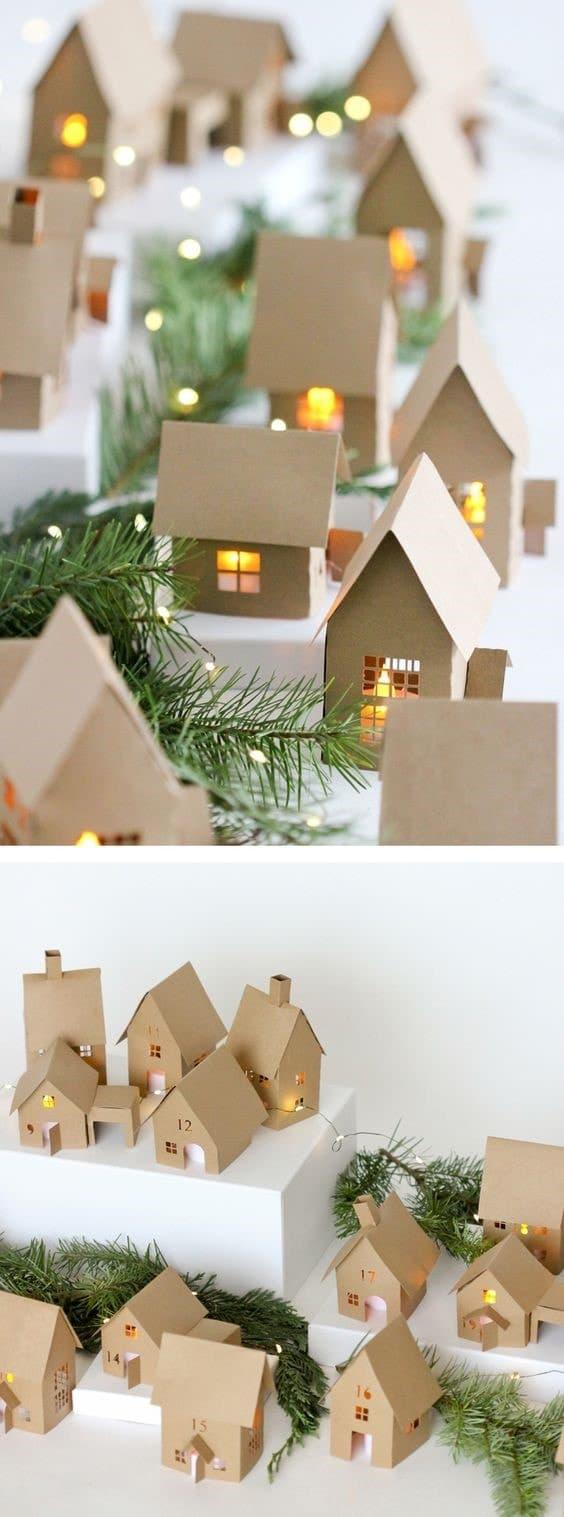 Maisons en carton bougie