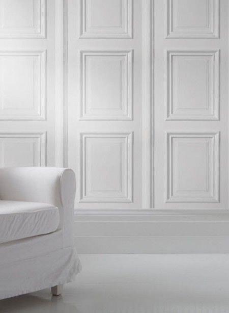 Papier peint imitation bois blanc