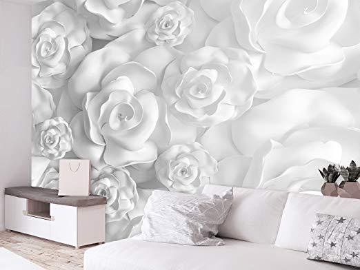 Papier peint doux d/'effet 3D en cuir d/'imitation pour le salon