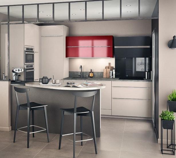 petite cuisine ouverte 38 id es d 39 am nagement modernes. Black Bedroom Furniture Sets. Home Design Ideas