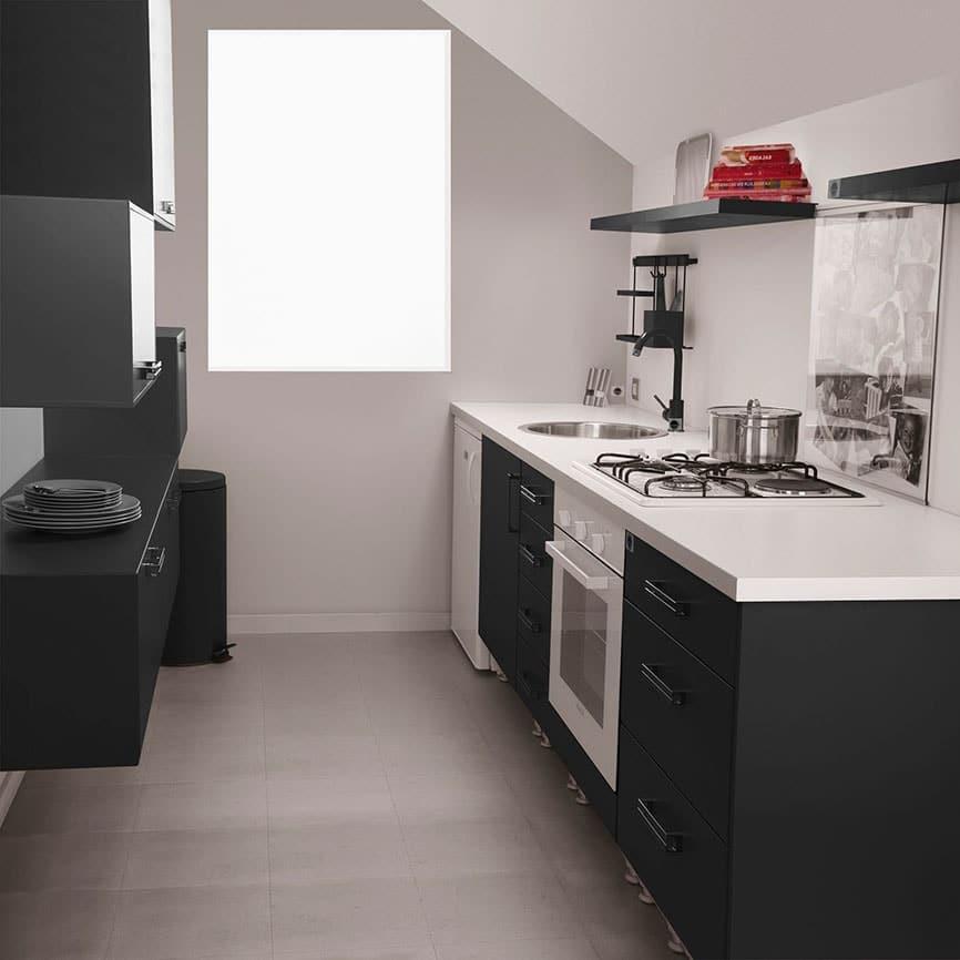 Petite cuisine noire