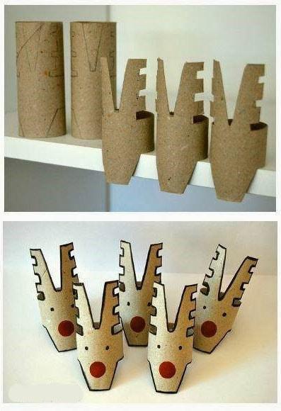 deco noel a faire soi meme avec recup - Rouleaux de papier recyclés