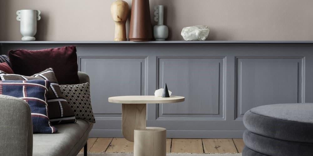 Salon gris classique