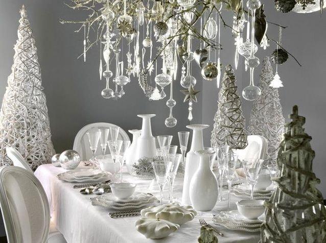 Table de fête blanche