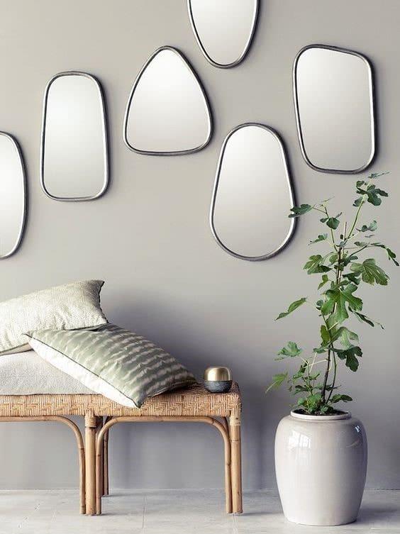 aménagement espace intérieur miroir