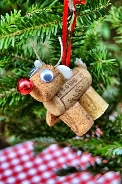 bouchon liege renne decoration sapin de noel