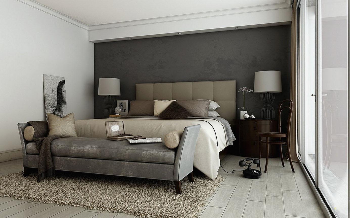 chambre élégante et raffinée grise et beige