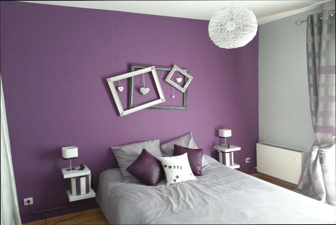 chambre grise et violet