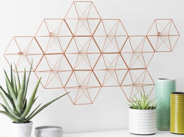 forme géométrique en matl pour deco murale
