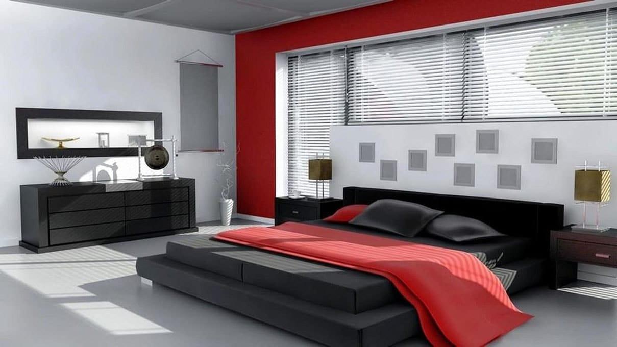 grise avec Chambre rouge