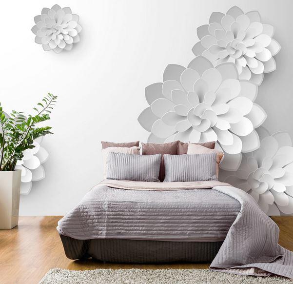 papier peint fleur chambre adulte