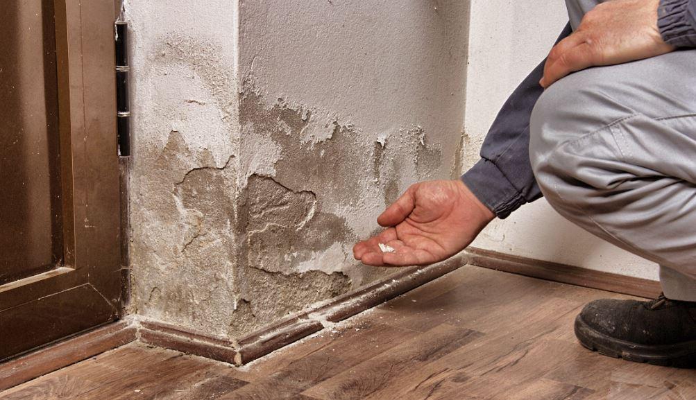 apparition du salpetre sur mur en pierre-