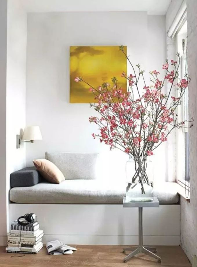 Élément architecture pour petit salon moderne