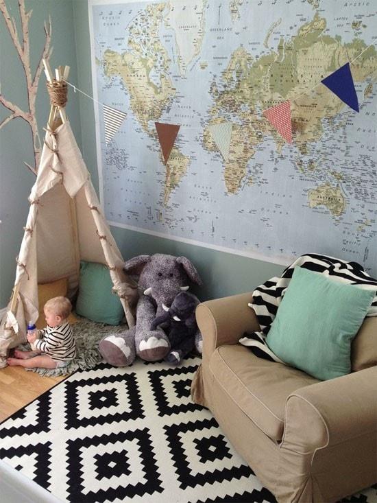 Carte tipi chambre bébé
