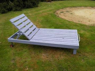 Chaise longue palette cadre