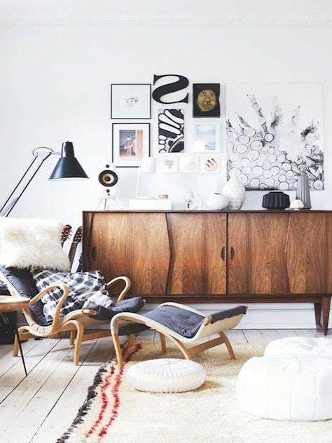 Enfilade et fauteuil vintage