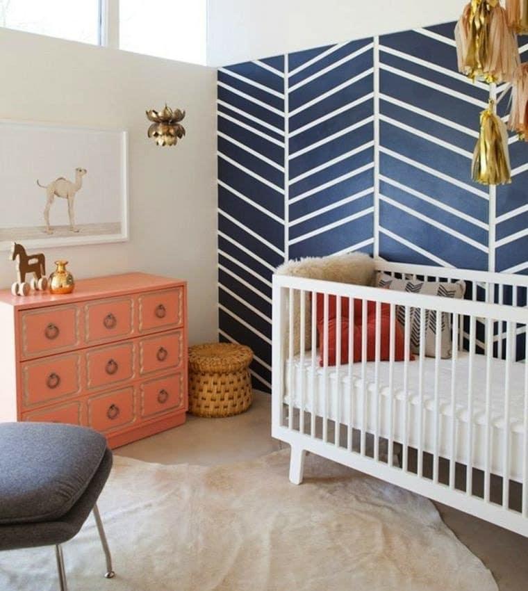 Mur papier peint chambre bébé