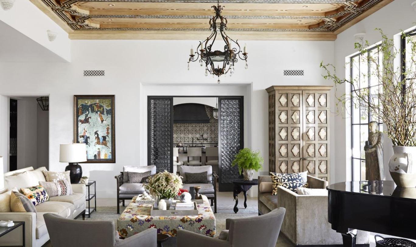 Salon marocain gris
