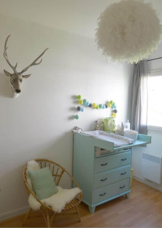 chambre bébé avec déco scandinave