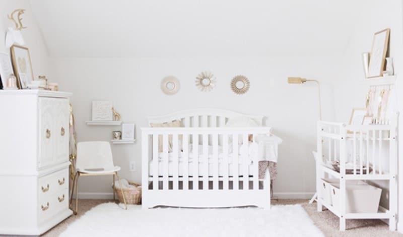 chambre bébé thème blanc