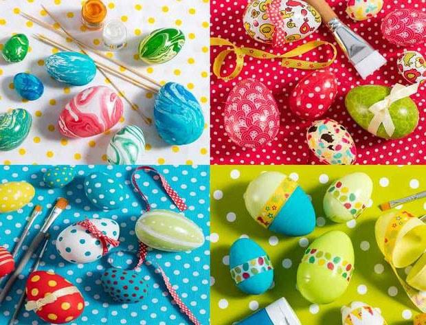 Œufs de Pâques décorés