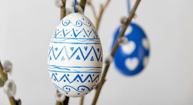 Œufs de Pâques peints