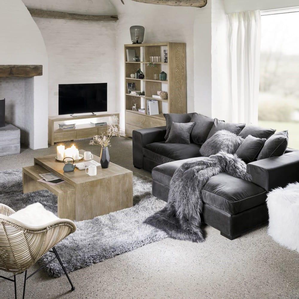 Canapé d'angle en 4 places