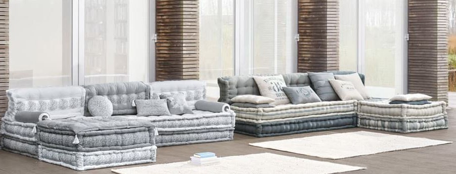 Canapé tissu modulable