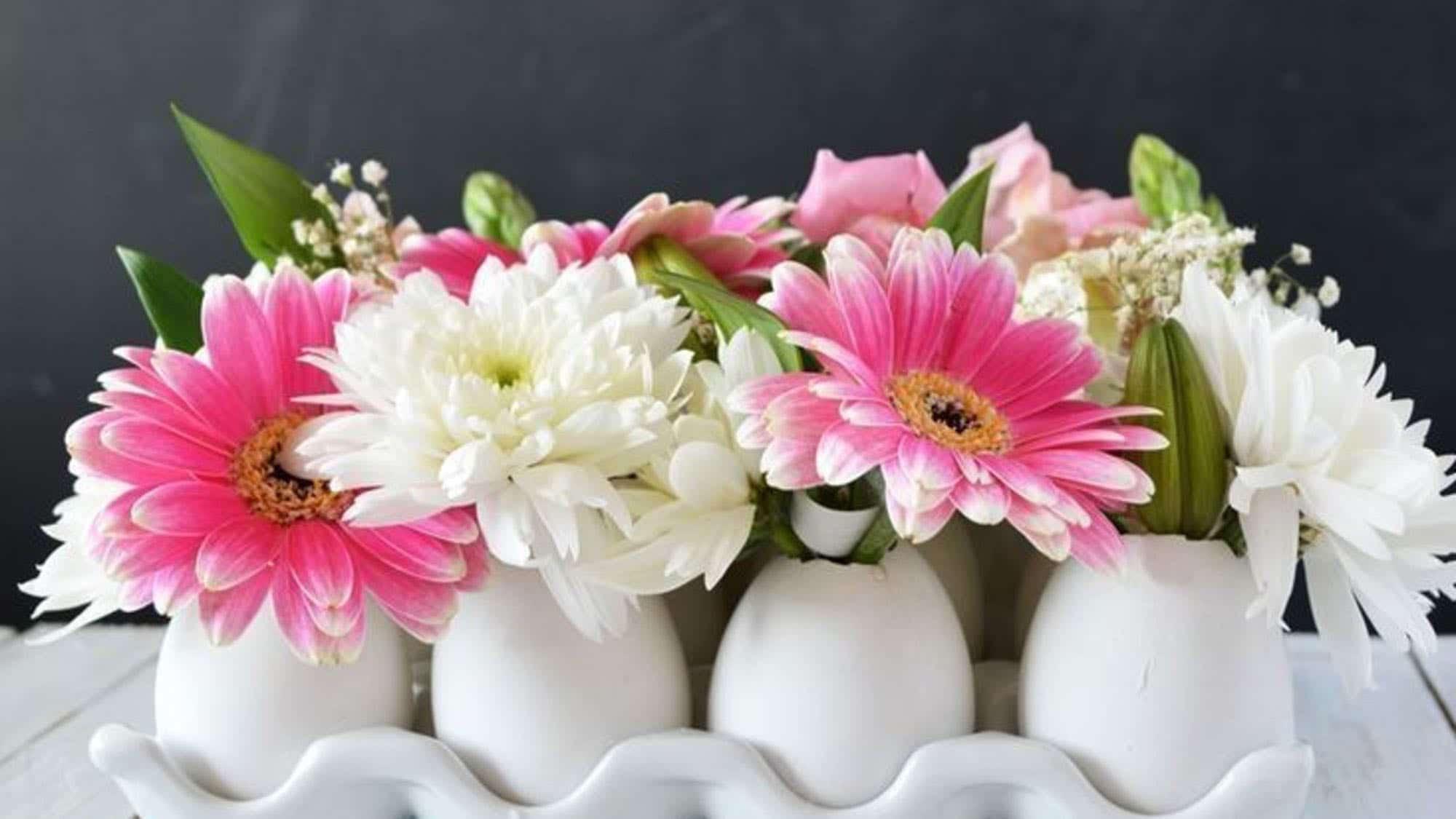 Comment Faire Un Centre De Table Avec Des Fleurs bricolage de pâques : 42 idées déco à fabriquer soi-même